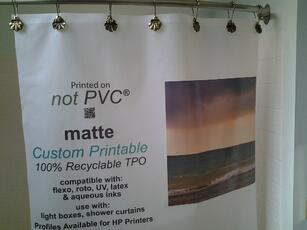 not PVC shower curtain